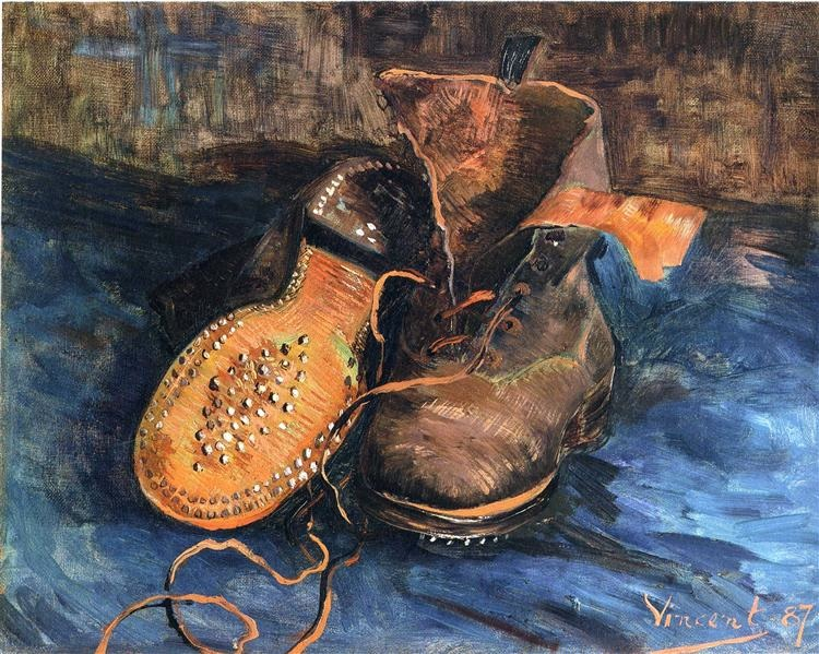 Vincent van Gogh, A Pair of Shoes, 1887, oil on canvas, Baltimore Museum of Art, Baltimore, Maryland