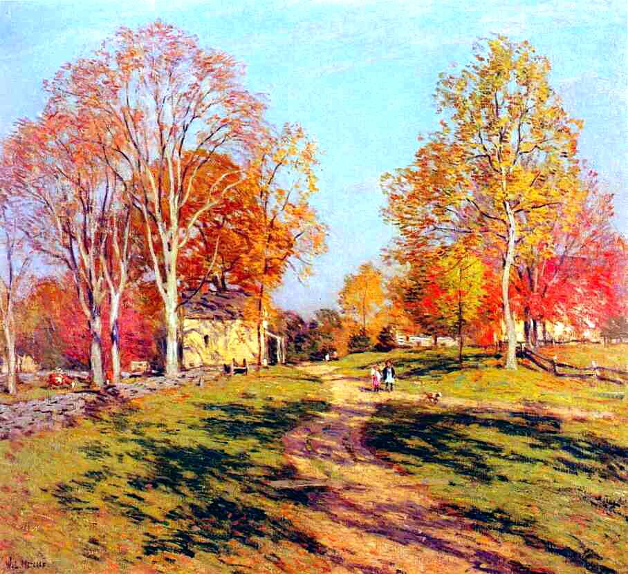 Willard Metcalf, Morning Shadows, c. 1908, oil on canvas, Private Collection