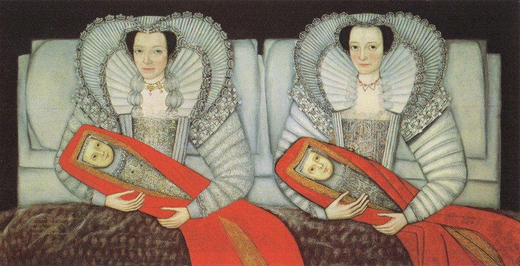 Unknown artist, British School, The Cholmondeley Ladies, c. 1600-1610, oil painting on wood, Tate, London, UK