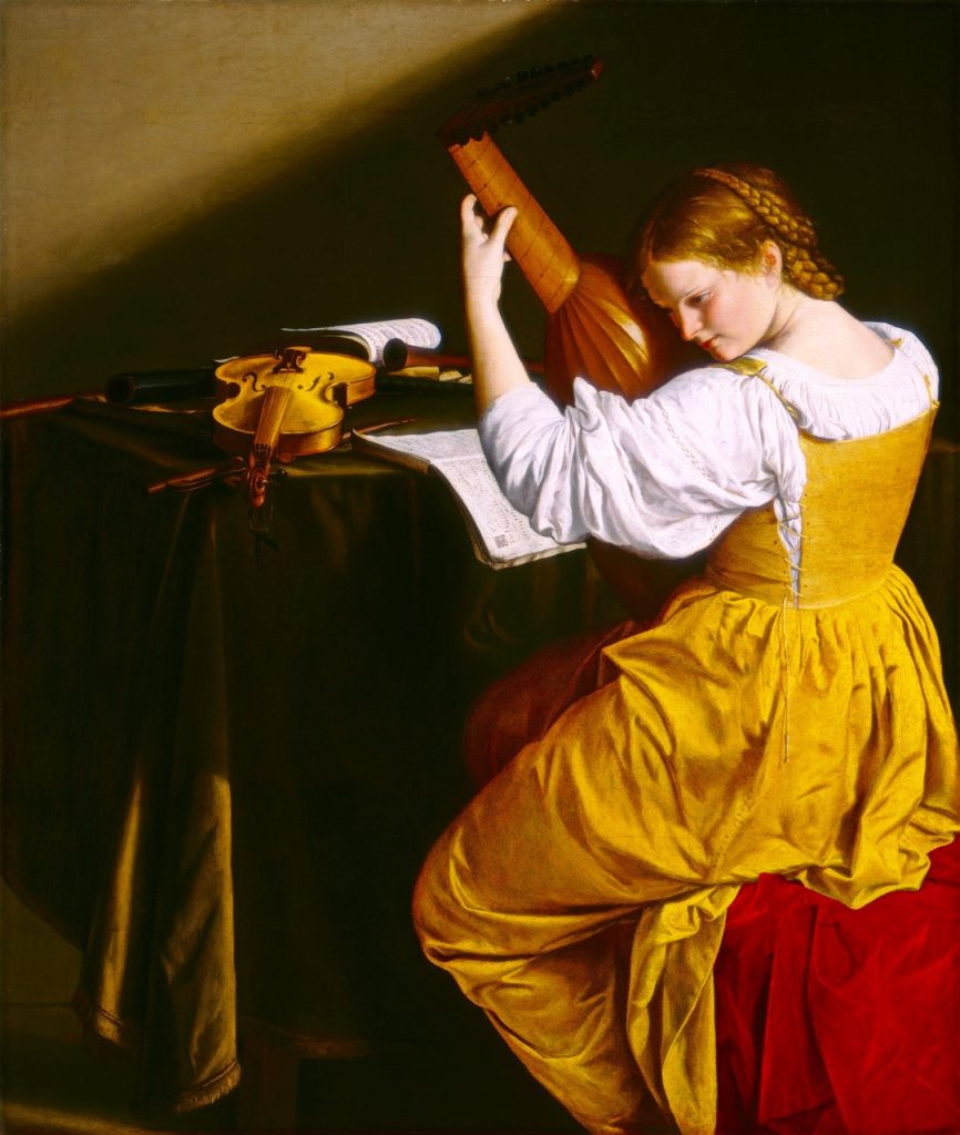 Orazio Gentileschi, The Lute Player, Italian, 1563 - 1639, c. 1612/1620, oil on canvas, Ailsa Mellon Bruce Fund