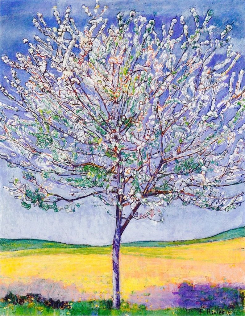 Ferdinand Hodler, Cherry Tree in Bloom, 1905, oil, Private Collection