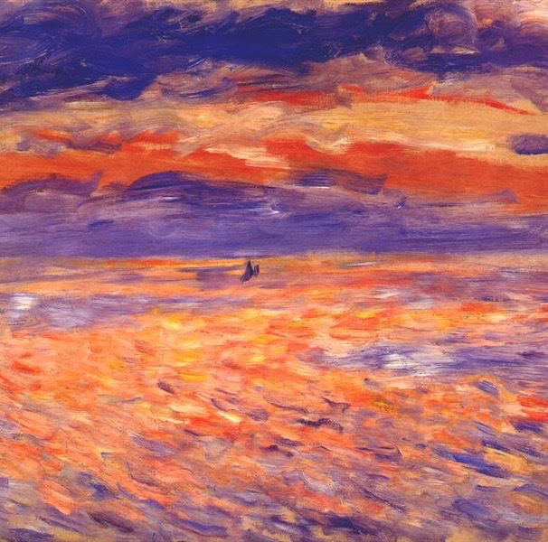 Pierre-Auguste Renoir, Sunset, c. 1879, oil on canvas, Sterling and Francine Clark Art Institue, Williamstown, MA