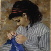 Pierre-Auguste Renoir, Lise Sewing, 1866, oil on canvas, Dallas Museum of Art, Dallas, Texas