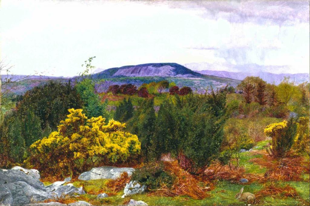 Daniel Alexander Williamson, Spring, Arnside Knot and Coniston Range of Hills from Warton Crag, detail, c. 1863, oil on canvas, Walker Art Gallery, Liverpool, UK