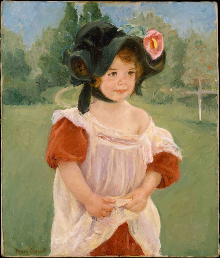 Arts Everyday Living: Mary Cassatt's Special Model---Portrait of Girl in Flower Bonnet