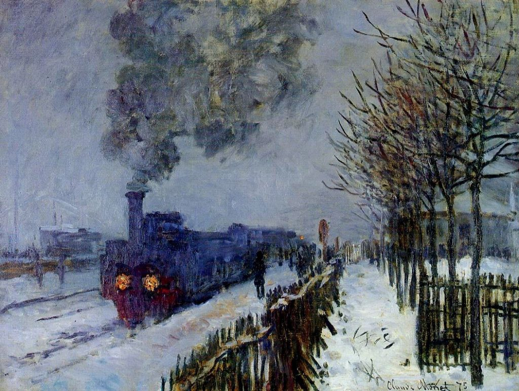 Claude Monet, A Train in Snow, 1875, oil on canvas, Musee Marmottan, Paris, France