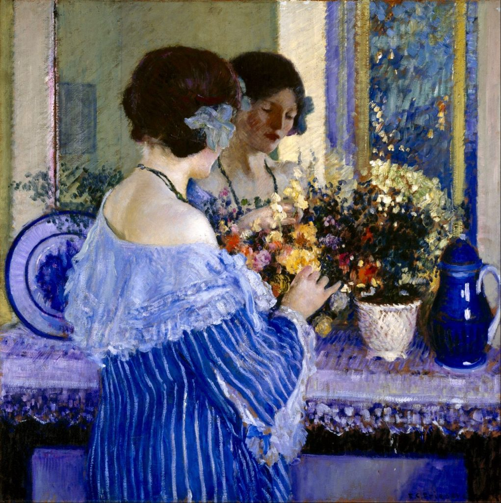 Arts Everyday Living: Decorative Impressionism---The Girl in Blue