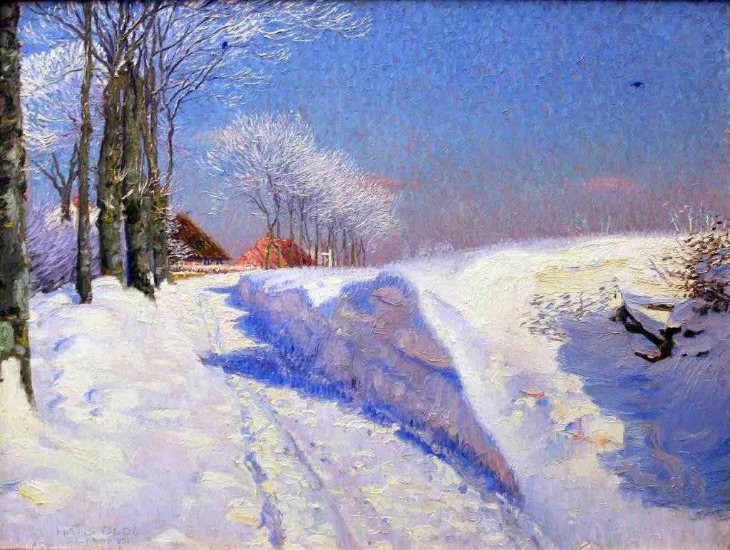 Hans Olde, Winter in Seekamp, 1895, oil on canvas, Museumberg Flensburg, Germany