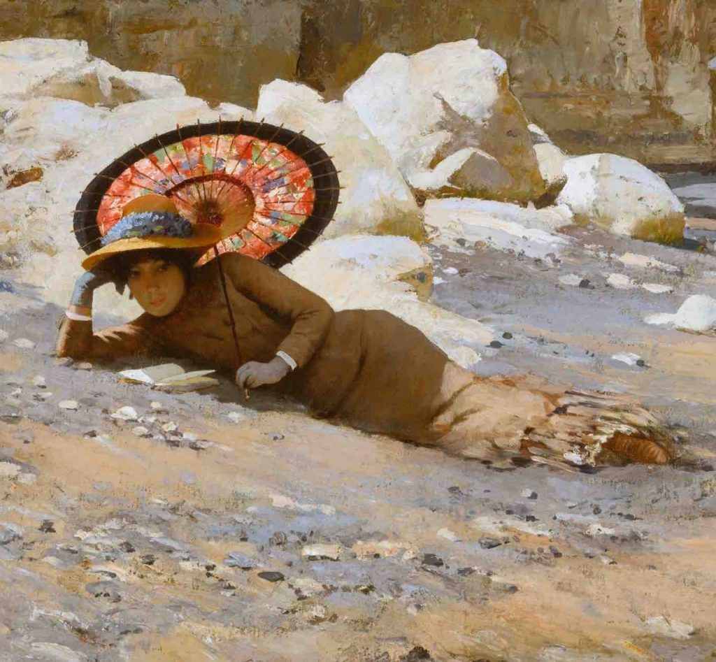 Arts Everyday Living: Woman on a Beach and the Perfect Companion