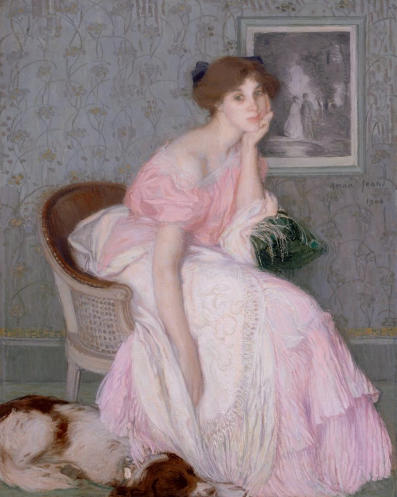 Arts Everyday Living: Waiting for Romance? Portrait of a Young Lady in Pink
