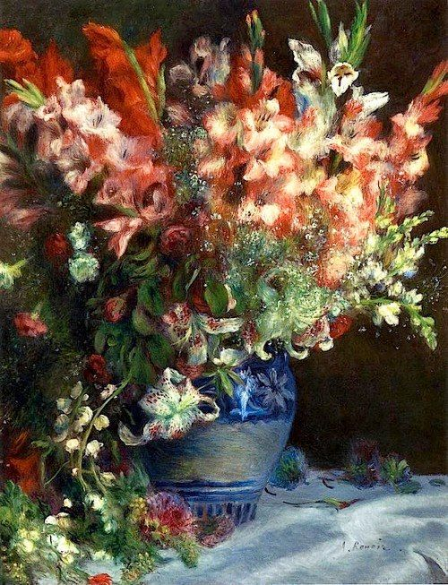 Arts Everyday Living: Renoir and the Flowers of Light---Glorious Gladioli