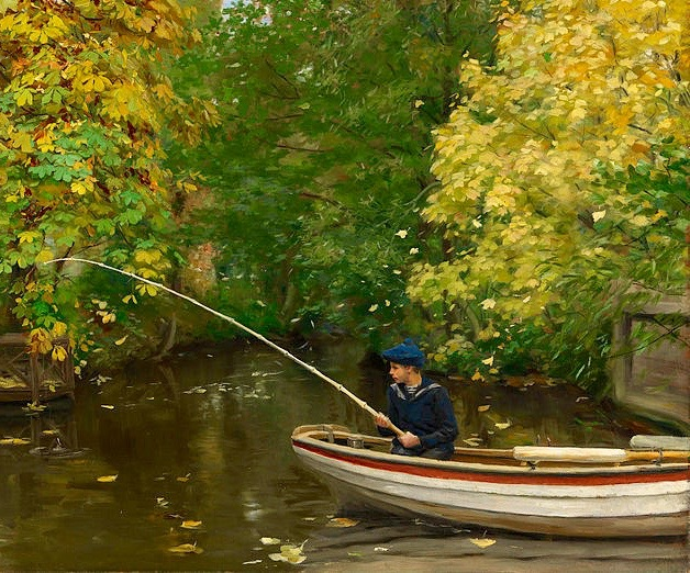 Arts Everyday Living: A Boy's Life---Solitary Fishing