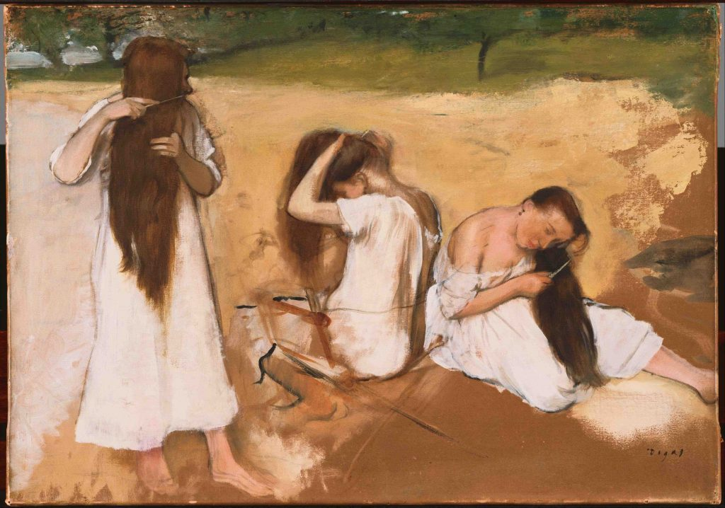 Arts Everyday Living: Through an Impressionist's Eyes-Degas & Art of Hair Combing