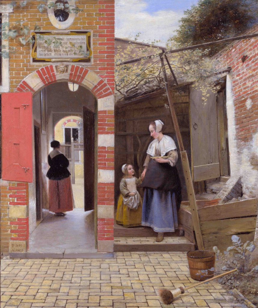 Arts Everyday Living: Vermeer's Rival in Long Ago Delft---Inside a Quiet Courtyard
