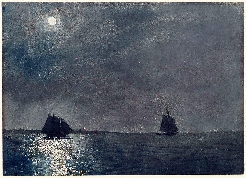 Arts Everyday Living: Winslow Homer & the Sea---Moonlight at Midnight