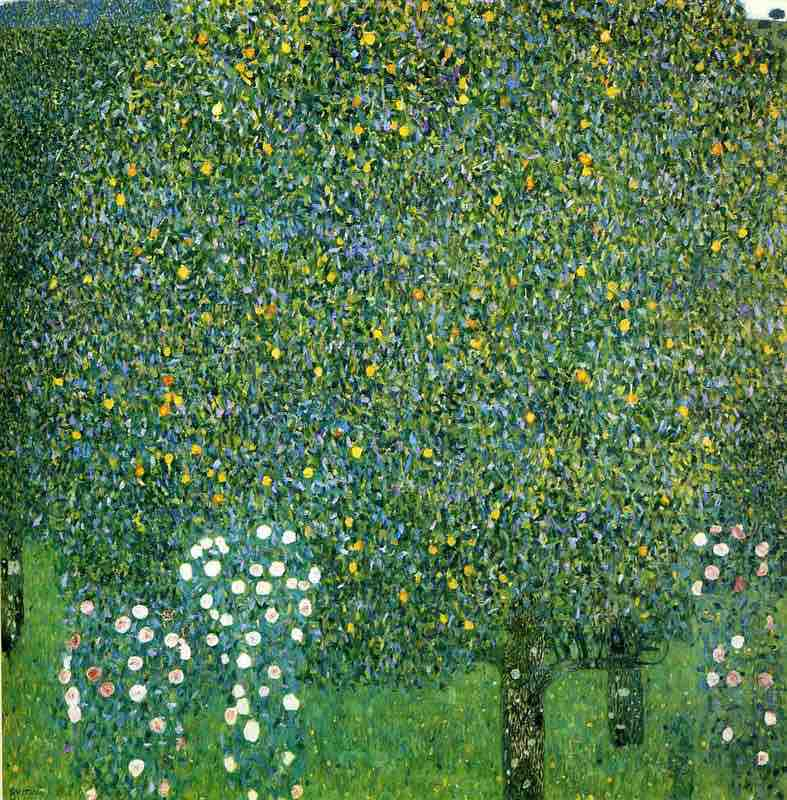 Arts Everyday Living: Gustav Klimt in the Countryside---The Wonder of Trees & Roses