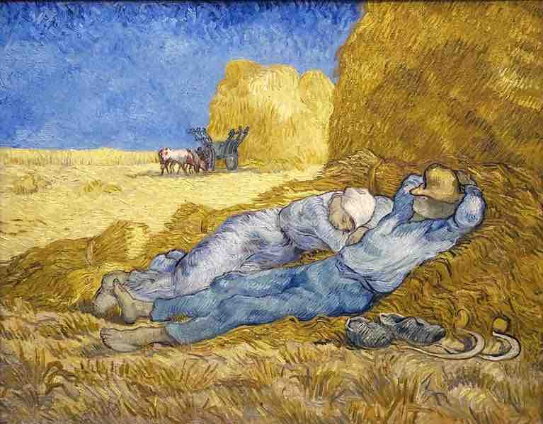 Arts Everyday Living: Van Gogh, Millet, & Siesta in the Afternoon-A Noontime Respite