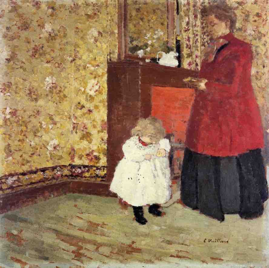 Edouard Vuillard, Mother and Child, 1890, oil on canvas, Private Collection