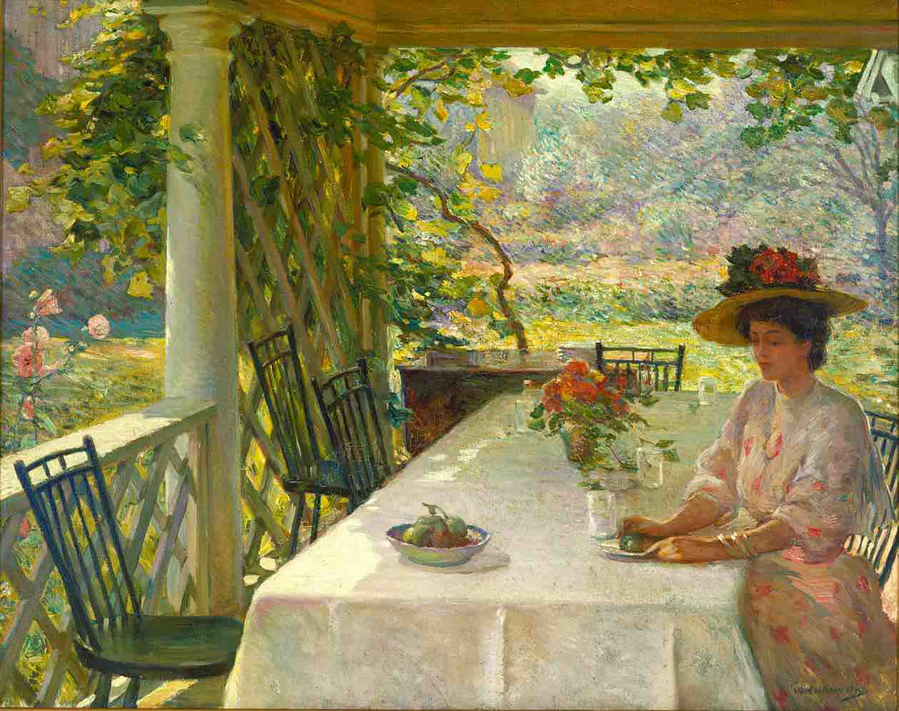 William Chadwick, On the Porch, c. 1908-1910, oil on canvas, Florence Griswold Museum, Old Lyme, Connecticut
