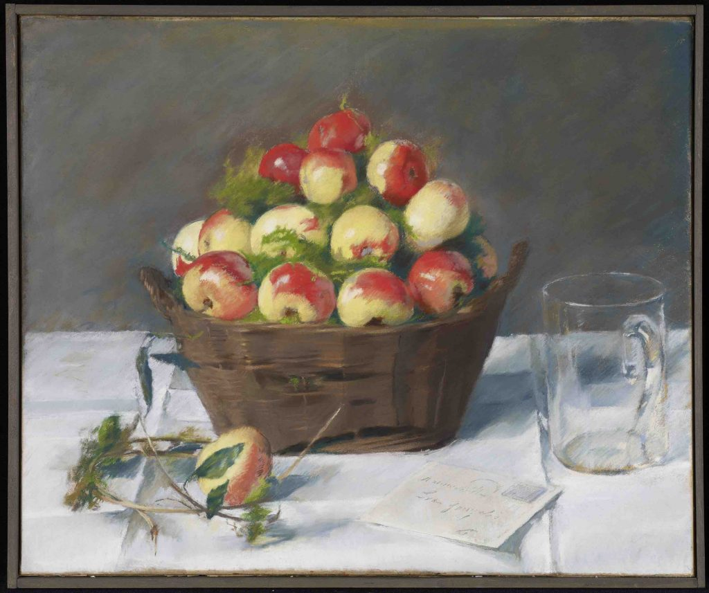 Eva Gonzales, French, 1847 - 1883; Pommes d'Api; 1877-1878; Pastel on paper mounted on canvas; 14 3/4 x 17 7/8 in. (37.47 x 45.4 cm); Minneapolis Institute of Art; The Ethel Morrison Van Derlip Fund and Gift of Ruth and Bruce Dayton 2007.72