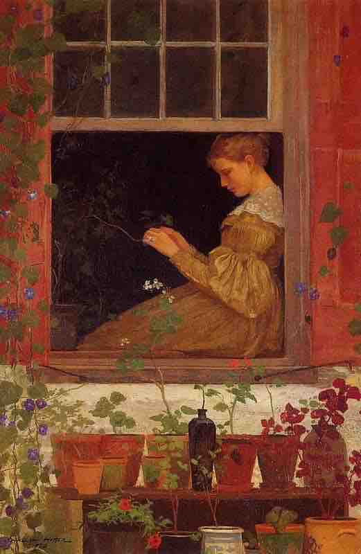 Arts Everyday Living: Woman in the Window--Where are the Morning Glories?