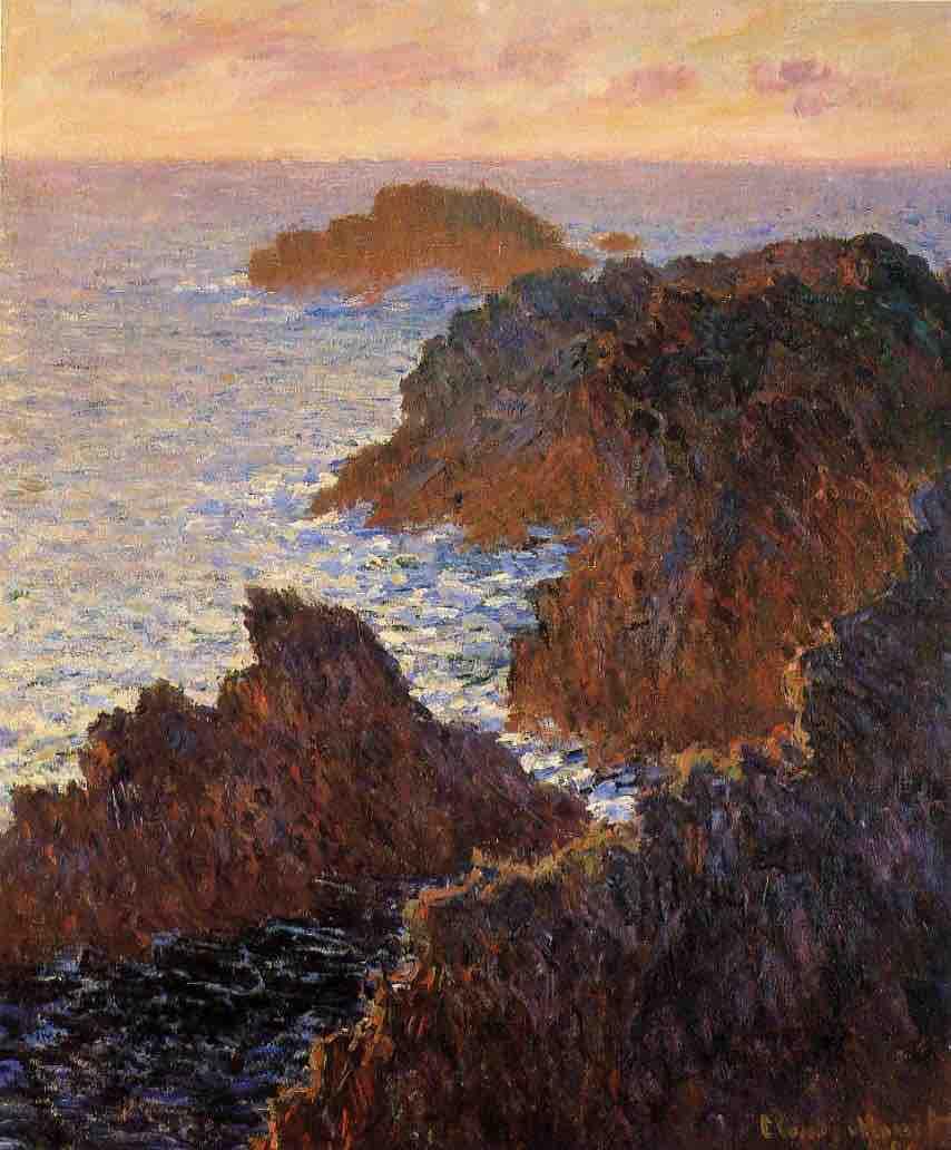 Claude Monet, Rocks at Belle-Ile, Port Domois, 1886, oil on canvas, Cincinnati Art Museum, Cincinnati, Ohio