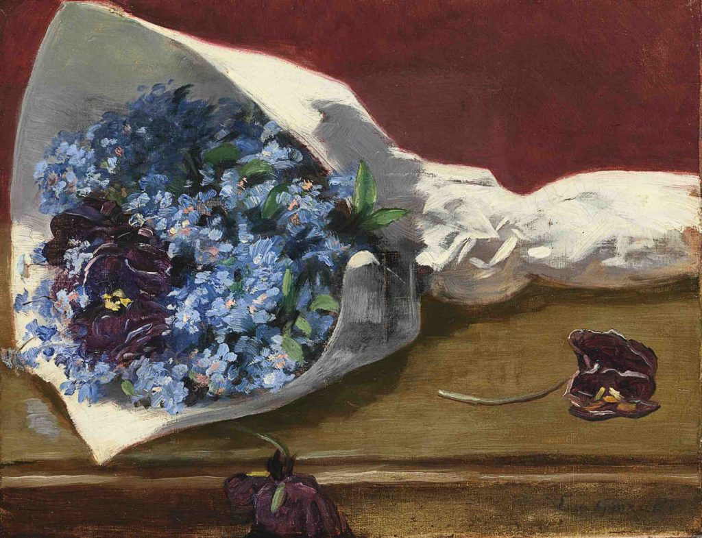 Evan Gonzales (1849-1883), Bouquet of Flowers, 1873-74, oil on canvas, Private Collection