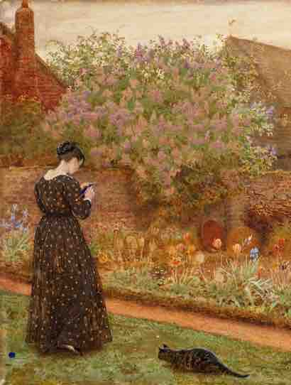 Frederick_Walker,_The_Old_Farm_Garden,_1871