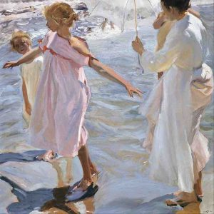 Joaquin Sorolla y Bastida, Time for a Bath, Valencia, c. 1908-1909, oil on canvas, Museo Sorolla, Madrid, Spain
