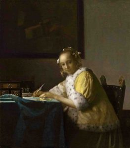 Johannes Vermeer, A Lady Writing a Letter, 1665, oil on canvas, National Gallery of Art, Washington, D.C.