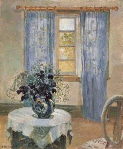 Anna ANCHER, Blue Clematis in the Artist's Studio, 1913, oil on canvas, Skagen Museum, Skagen, Denmark