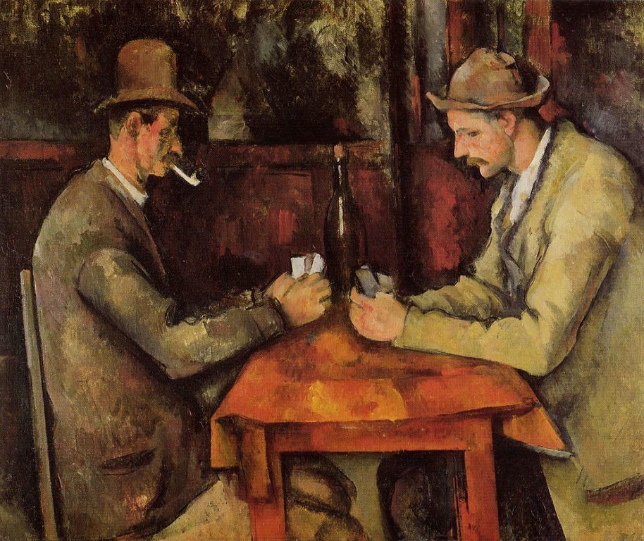 Paul Cezanne, The Card Players, c. 1894-1895, oil on canvas, Musee D'Orsay, Paris France.