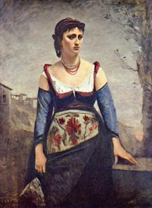 Camille Corot, Agostina, 1866, oil on canvas, National Gallery of Art, Washington, D.C.