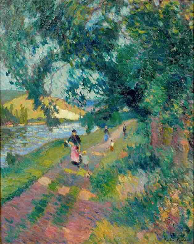 Arts Everyday Living: In the Footsteps of Impressionists---A Walk Along a French Country Road