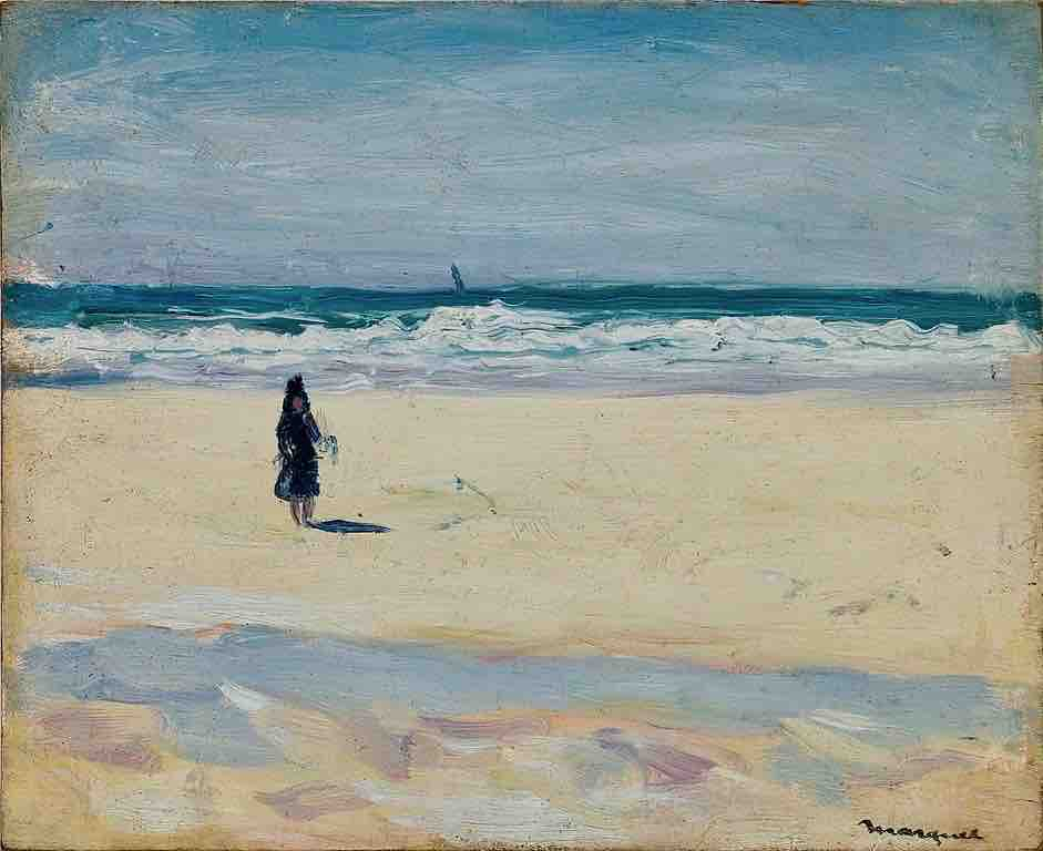 Arts Everyday Living: The Call of the Sea---Young Girl Alone on a Beach